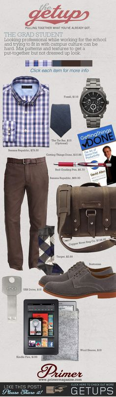 The Getup: The Grad Student | Primer (love the pants, bag and shoes - i don't know why, and awesome watch)