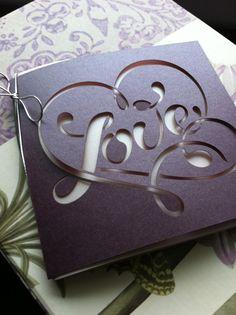 Love Wedding Invitation Laser Cut