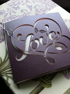 Love Wedding Invitation Laser Cut by CelineDesigns on Etsy, $4.99