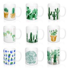 Cactus mugs from: lake-1221.myshopify.com