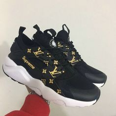 Free Shipping Only 69$ Nike Air Huarache IV Supreme x Huarache 2017 New Arrival Black White