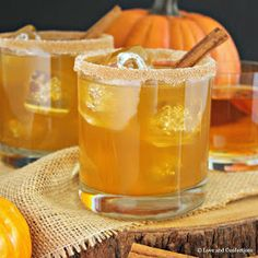 Pumpkin isn't just for sweet and savory recipes, it's great in cocktails too, like my Pumpkin Pie Bourbon Cocktail. Autumn spices are infused in homemade pumpkin pie simple syrup which blends deliciously with smooth bourbon. Pumpkin Cocktail, Pumpkin Drinks, Pumpkin Juice, Fruity Cocktails, Bourbon Cocktails, Fall Cocktails, Cocktail Recipes, Drink Recipes, Cocktail Ideas
