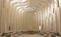 Bishop Edward King Chapel, Oxford.  Niall McLaughlin Architects.  Gold Award winner of the 2013 Wood Awards.