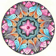 Zendala by #CZT Margaret Bremner aka the Enthusiastic Artist: Redux, revisit, remix
