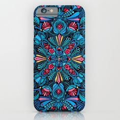i phone cases : https://society6.com/product/pink-light-blue-floral-mandala-on-black_iphone-case?curator=2tanduk
