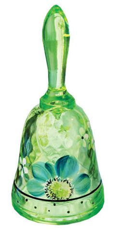 Fenton Key Lime Glass Bell