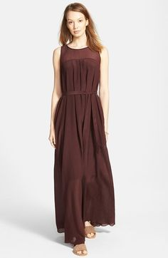 Madewell Belted Sleeveless Maxi Dress available at #Nordstrom