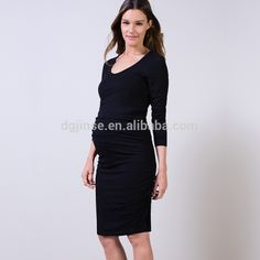 china good price plus size clothing fat party evening pregnant dresses for women