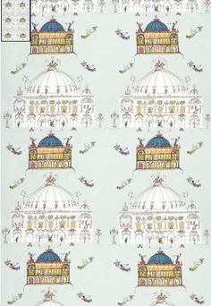 """Following yesterday's post on Saul Steinberg's wonderful """"Views of Paris"""" wallpaper, which was designed in 1946 and still is available today, I started nosing around some more on Schumacher's website. I found five more designs for wallpaper and/or fabrics all reproduced from the 1950s originals. Amazing! Gorgeous! Gonna cost you! I think the one above …"""
