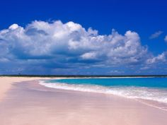 pink sand beach in Harbor Island bahamas!
