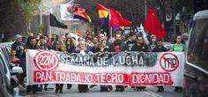 Las #MarchasDeLaDignidad  se manifestan por PAN, TRABAJO, TECHO Y DIGNIDAD http://www.publico.es/558885/las-marchas-de-la-dignidad-se-manifestan-en-toda-espana-para-quebrar-el-bipartidismo… #29Ndignidad #29N
