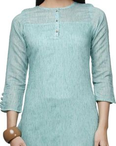 LadyIndia.com # Kurtas, Fabulous Designer Floral Cotton Blue Kurti For Women, Kurtis, Kurtas, Cotton Kurti, https://ladyindia.com/collections/ethnic-wear/products/fabulous-designer-floral-cotton-blue-kurti-for-women