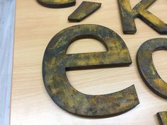 Metallook  letters. Pvc letters in corten-staal look Symbols, Art, Art Background, Kunst, Performing Arts, Glyphs, Art Education Resources, Icons, Artworks