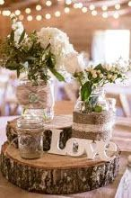 Perfect for barn weddings. Mason jars can be an easy DIY project to make beautiful but inexpensive centerpieces or flower arrangements. They add the perfect amount of rustic elegant charm to a country wedding. See more ideas and inspiration and shop our selection of wedding supplies, decor, as well as groomsmen and bridesmaid gifts at: www.my-best-friends-wedding.com