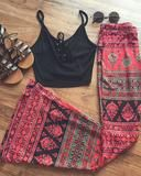 Gypsy Printed Bell Bottoms - Livin' Freely  - 1
