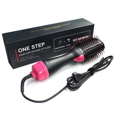 New Hair Dryer Brush One Step Hair Dryer & Styler & Volumizer Salon Negative Ion Hair Straightener & Curly Hair Comb online - Greattopbeauty Blow Dryer With Comb, Hair Blower, Hair Straightener And Curler, Hair Straightening, Hair Dryer Brush, Professional Hair Dryer, Professional Women, Best Drugstore Makeup, Rides Front
