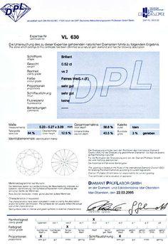 Foto 9, Brillant, Gutachten DPL, 0.52ct Top-Wesselton-F! Juwel!, D5525