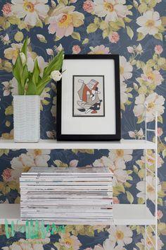 Flower Pattern Wallpaper | Removable Wallpaper | Floral Wallpaper | Flower Wall Sticker | Wall Decal | Self Adhesive Wallpaper