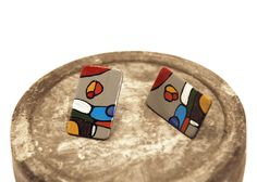 Earrings Wooden Earrings, Handmade Jewelry, Painting, Instagram, Wood Earrings, Handmade Jewellery, Painting Art, Jewellery Making, Paintings