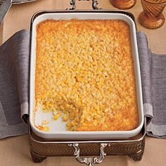 Southern Living Recipe: Tee's Corn Pudding < 83 Best Thanksgiving Side Dish Recipes - Southern Living Mobile
