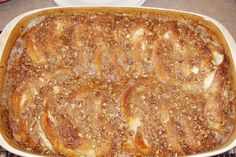 easy french toast casserole with white bread