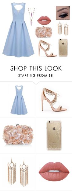 """Выпускной"" by darya-komarova on Polyvore featuring мода, Chi Chi, Aquazzura, Accessorize, Rifle Paper Co и Lime Crime"