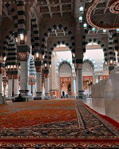 Islamic Architecture, Architecture Design, Al Masjid An Nabawi, Islamic Wallpaper Hd, Green Dome, Mekkah, Anime Muslim, Beautiful Mosques, Madina