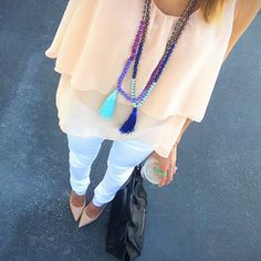 love this outfit and the tassel necklace