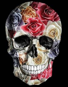 @rocknrox Sugar Skull Artwork, Sugar Skull Wallpaper, Skeleton Art, Skeleton Makeup, Skull Makeup, Badass Skulls, Frida Art, Skull Pictures, Candy Skulls