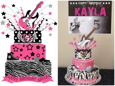 guitar cakes for rockstar parties | can take very little credit for the cake. While I sketched the ...