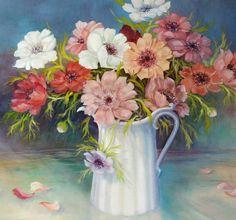Anemone, olej na plátně, 50x60cm