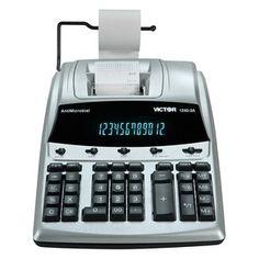 Victor Model 1240-3A 12-Digit Display Printer Calculator