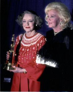Ginger Rogers and Bette Davis March 15, 1982 at the American Film Awards Ceremony at the Palace Theater