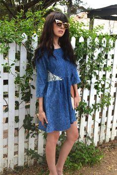 Lacey Denim Dress