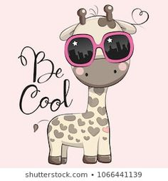 Cute Giraffe with sun glasses. Cool Cartoon Cute Giraffe with sun glasses royalty free illustration Animals Images, Cute Animals, Giraffe Pictures, Kids Cartoon Characters, Baby Canvas, Pet Rocks, Cool Cartoons, Free Illustrations, Pictures To Draw