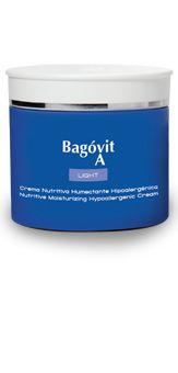 BAGÓVIT A LIGHT Hipoalergénica. Su fórmula más liviana promueve una rápida absorción hacia las capas más profundas de la piel, restableciendo la elasticidad, tersura y luminosidad de la misma. Especialmente recomendada para pieles sensibles.