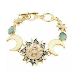 Sun and moon bracelet