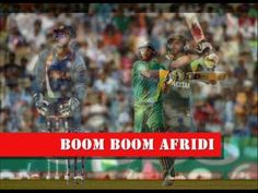 Favorite Dynamic and Energetic Cricketer  Sahid Afridi