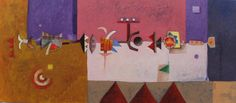 Título: Trayecto de una Ilusión   Autor: Alvaro Galindo Vácha   Dimensiones: 37 x 84 cm   Técnica: Acrílico sobre tela   Año: 2006   Firmado: Frente y Revés