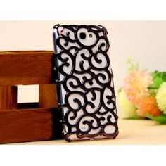Fancy Hollow Out Palace Flower Hard Case Cover for Samsung Galaxy Note 2 N7100