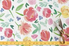 Pike Place Boquet Fabric by Itsy Belle Studio at minted.com
