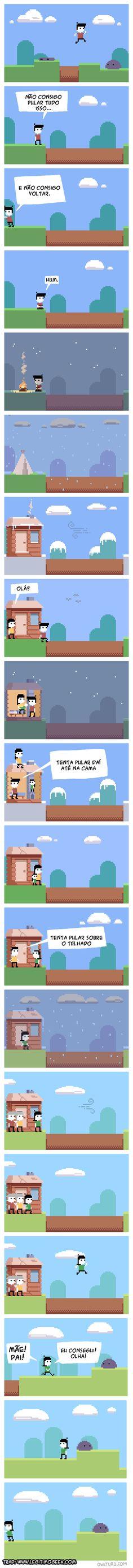 Se a vida fosse um jogo 2D Apesar de eu estar colocando na pasta de humor, isso é muito triste ;-;