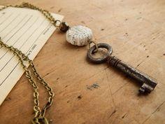 Rustic key necklace / skeleton key necklace / by FleetwoodandCo