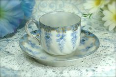 Antique Nippon Mini Teacup and Saucer in by HappyGalsVintage