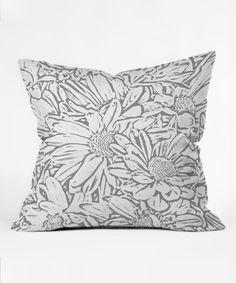 Love this Lisa Argyropoulos Daisy Daisy Dove Gray Fleece Throw Pillow on…