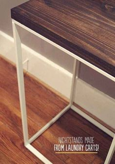 Turn the Antonius laundry hamper frame ($9.99) into a nightstand.