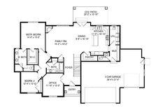 Ranch Style House Plan - 6 Beds 4.50 Baths 4438 Sq/Ft Plan #920-97 Floor Plan - Main Floor Plan