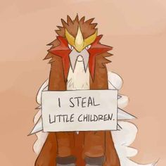 This Entei who was only taking direction from the movie director . | 21 Pokémon Being Publicly Shamed By Their Trainers