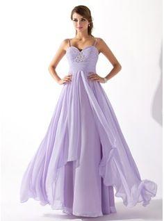 A-Line/Princess Sweetheart Floor-Length Chiffon Prom Dress With Ruffle Beading (018004835) - JJsHouse