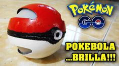 ◀︎▶︎POKEBOLA de POKEMON Casera.........SE ABRE Y BRILLA!!!!! How To Make...